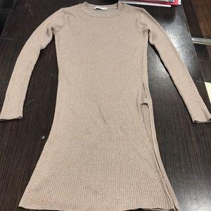 Mango long blouse open slits on sides